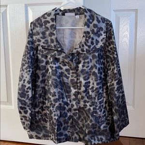 ☔️Susan Graver Satin Lightweight Jacket
